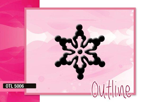 Klebeschablone Outline OTL5006, Nailart Airbrush