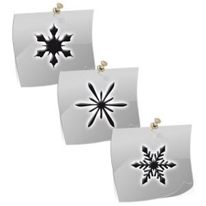 Klebeschablonen XM2104, Nailart Airbrush Schablonen Weihnachten, Winter, Schneeflocken, Sterne