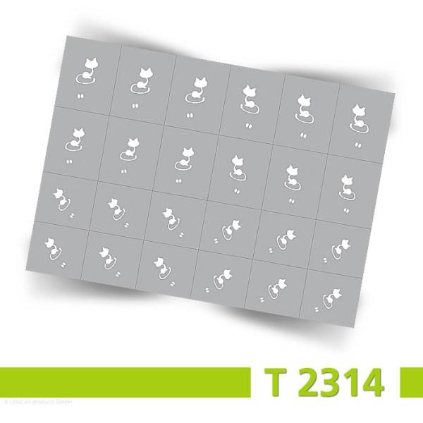 Schablonen Bogenansicht Nailart Airbrush T2314