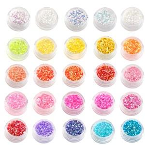 Hologrammblättchen, verschiedene Farben im Döschen