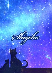 しげこ用★星空と猫シルエット