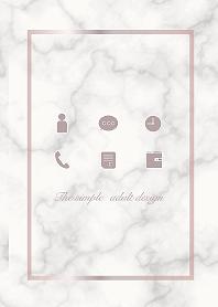 シンプル大人デザイン-大理石-