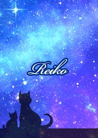 れいこ用★星空と猫シルエット