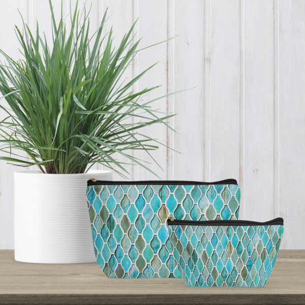 Turquoise Tiles Accessory Pouch