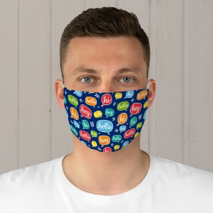Colorful Hello Fabric Face Mask