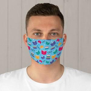 Colorful Books Fabric Face Mask