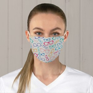 Colorful Glasses Fabric Face Mask