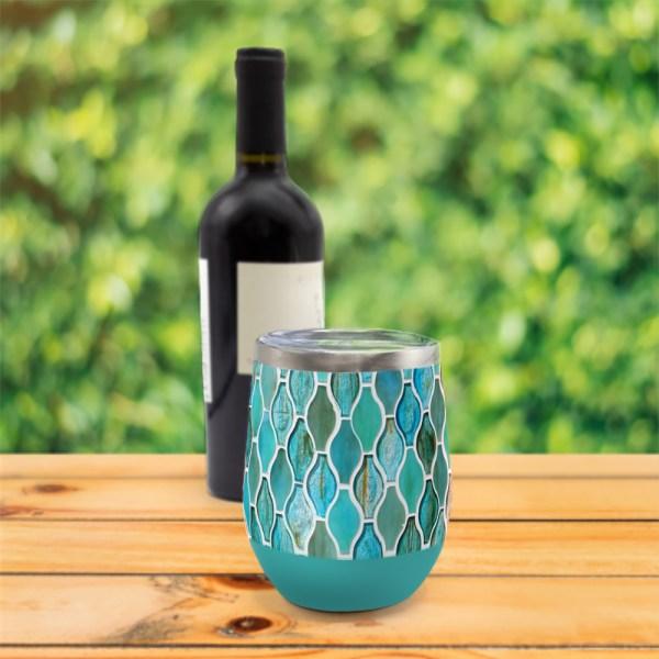 Turquoise Tiles Wine Tumbler