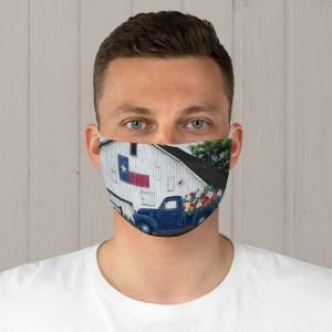 Texan Flower Farm Truck Fabric Face Mask