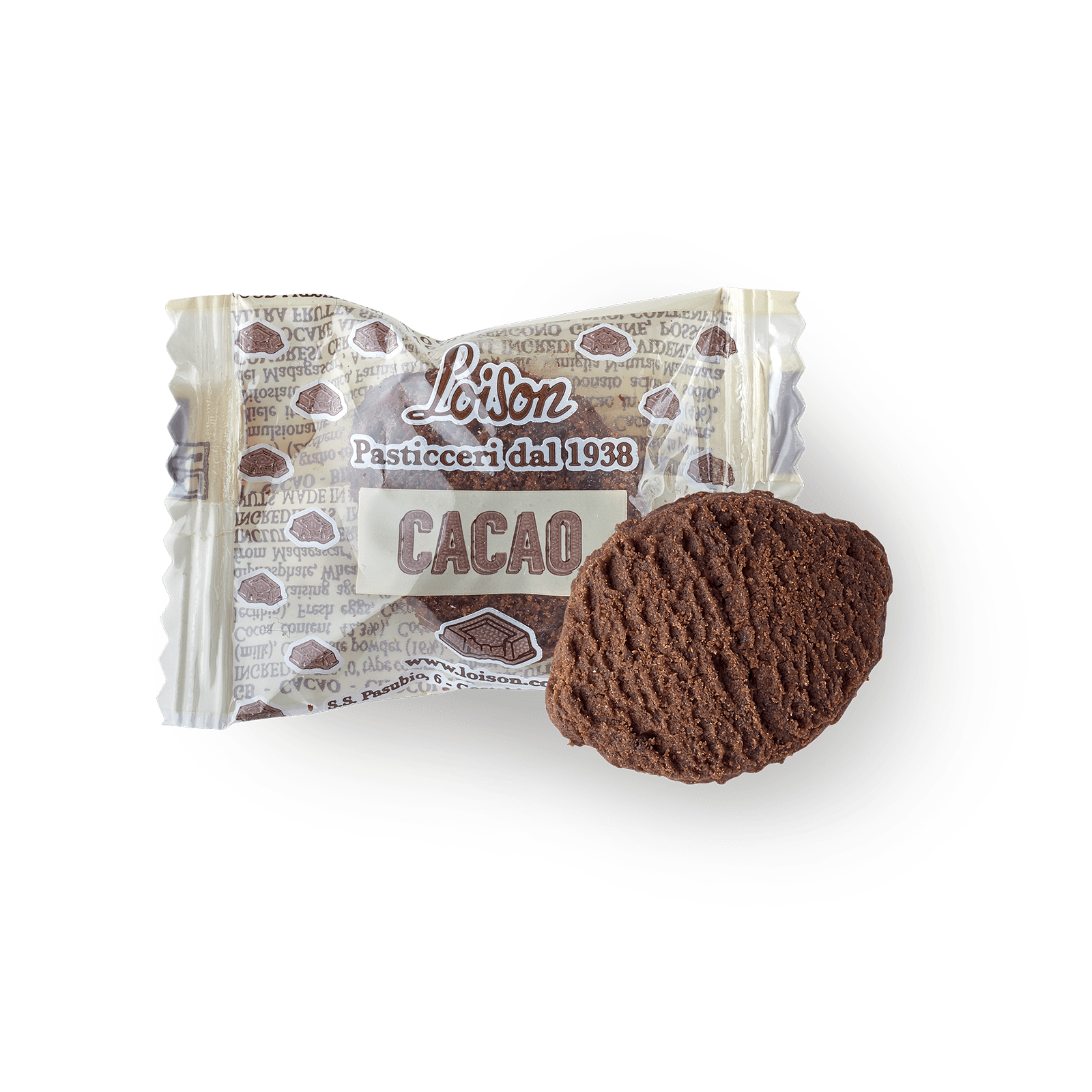 Chocolate biscuits individually wrapped Loison