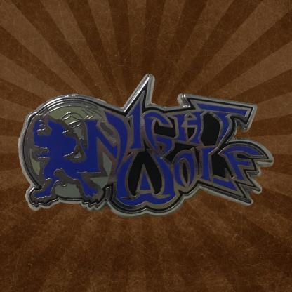 """Night Wolf Logo 1.5"""" Hard Enamel Pin"""