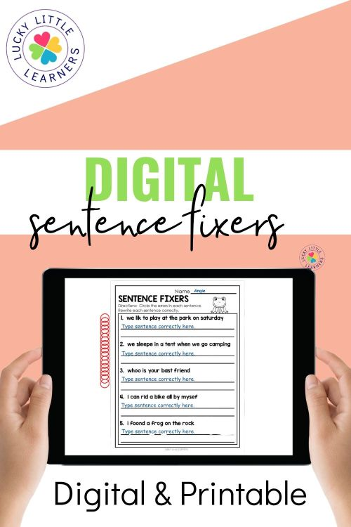 small resolution of Sentence Fixers - Lucky Little Learners