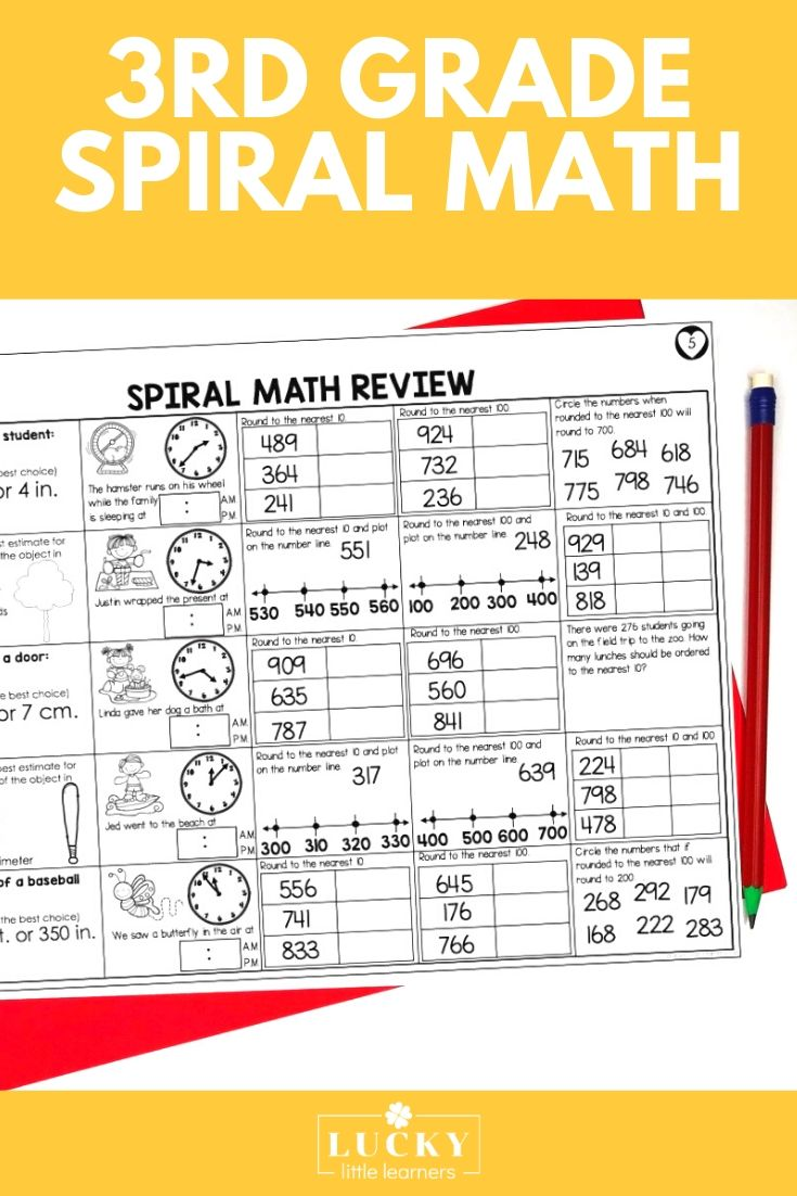 medium resolution of 3rd Grade Spiral Math Review - Lucky Little Learners