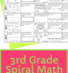 3rd Grade Spiral Math Review - Lucky Little Learners [ 1102 x 735 Pixel ]