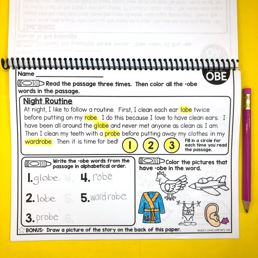 hight resolution of 2nd Grade Phonics Reading Passages - Lucky Little Learners
