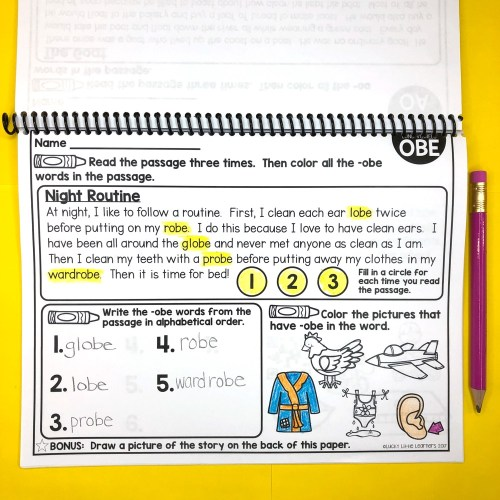 small resolution of 2nd Grade Phonics Reading Passages - Lucky Little Learners