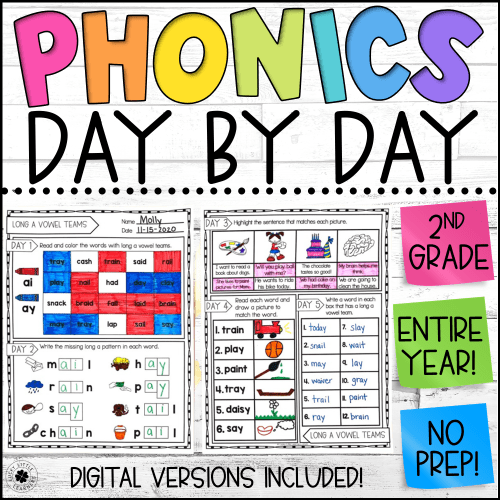 small resolution of Phonics Worksheets   Phonics Day by Day   Daily Phonics Practice - Lucky  Little Learners