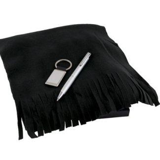 Бизнес комплект поларен шал, химикалка и ключодържател