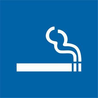 Стикер Място за пушене 15х15 см.