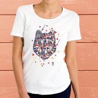 Абстрактен Вълк - Дамска тениска