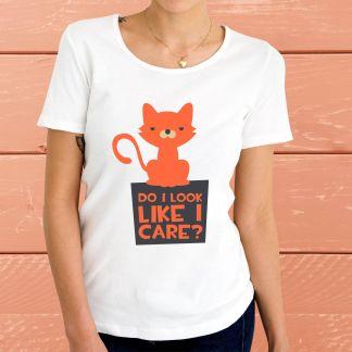 Do I look like I care? - Дамска тениска