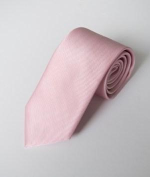 Cravate en satin côtelé rose dragée