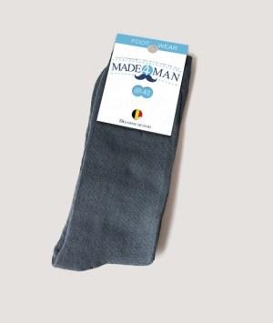 Chaussettes gris bleuté