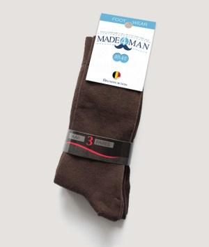 Chaussettes brun marron uni