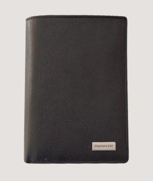 Portefeuille cuir noir
