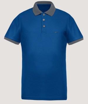 Polo maille piquée Cool Plus - Royal blue/Grey