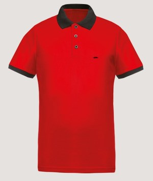 Polo maille piquée Cool Plus - Red/Black