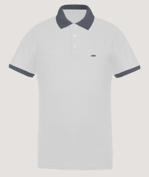 Polo maille piquée Cool Plus - Royal white/grey
