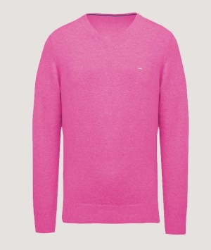 Pullover premium col V - Candy pink