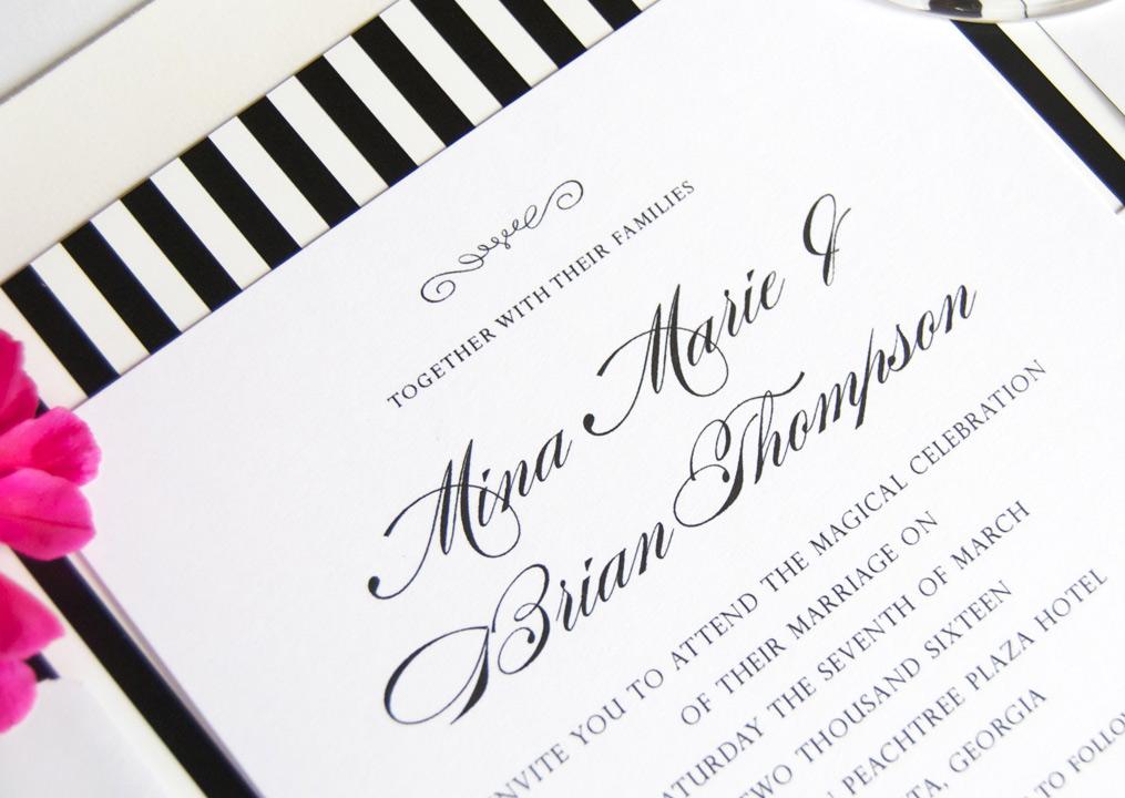Atlanta Skyline Wedding Invitations