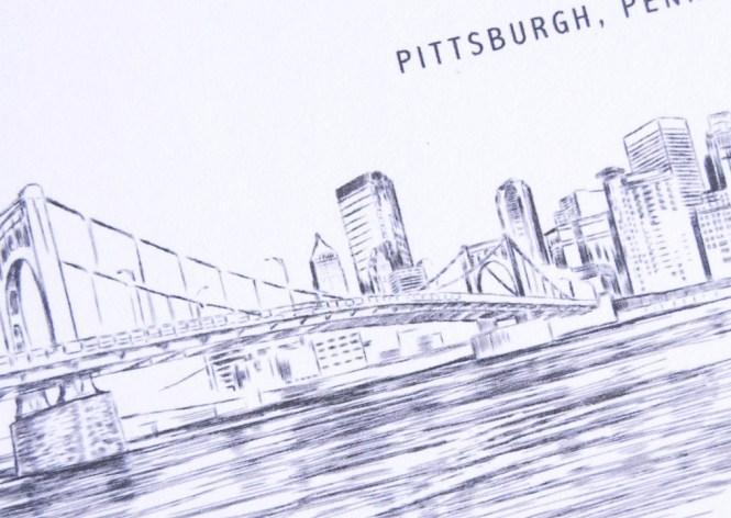 Pittsburgh Skyline Wedding Invitations