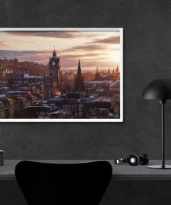 Edinburgh Cityscape at Sunset | Manel Quiros Photography