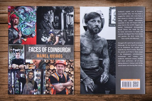 Faces of Edinburgh Cover and Back | Manel Quiros Photography
