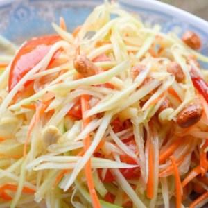 Salade de papayes vertes et carottes