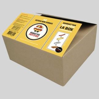 Commandez dès à présent notre Box Standard Manhattan Hot Dog ! Composé de 48 Saucisses 100% Boeuf, 48 Buns HotDogs et 48 barquettes !