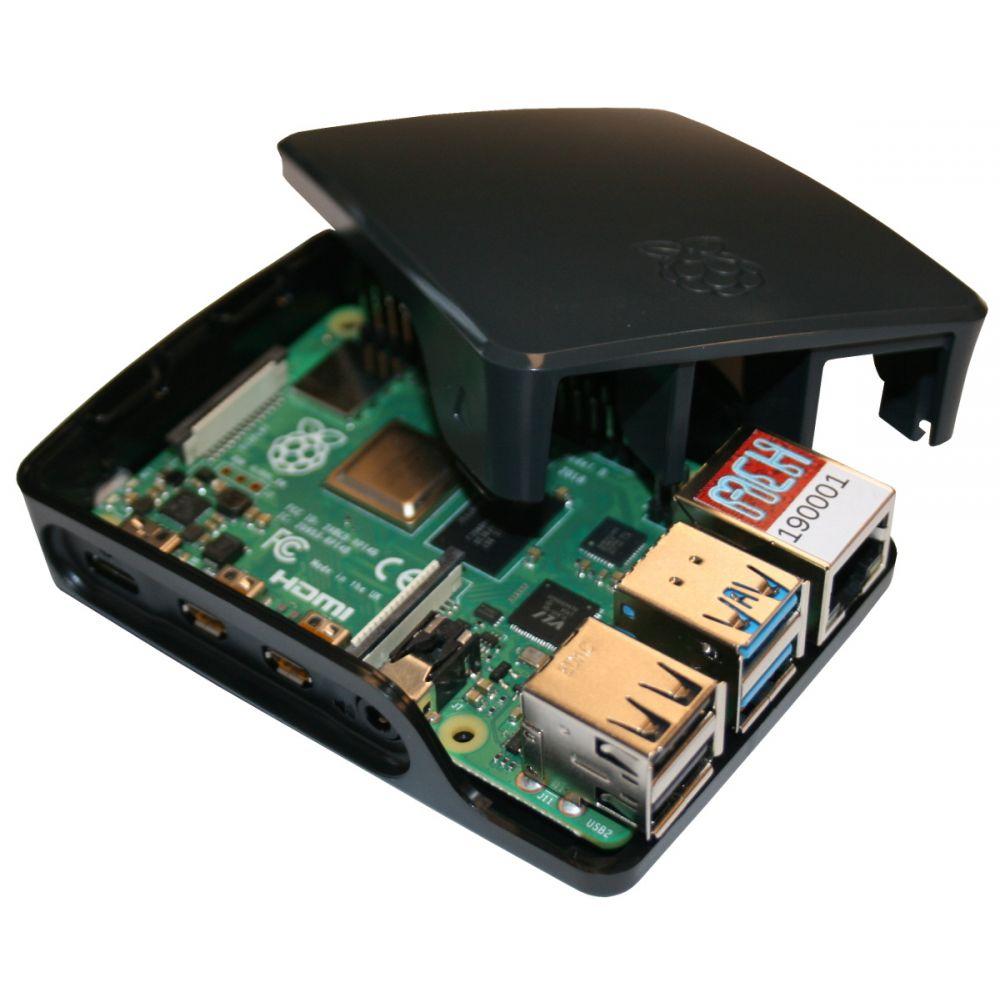 Raspberry Pi 4 - 4 Go - Kit Mediacenter NOIR (Pi incl) - MCHobby - Vente de Raspberry Pi. Arduino. ODROID. Adafruit