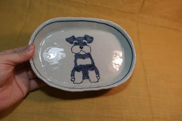 楕円皿 シュナウザー