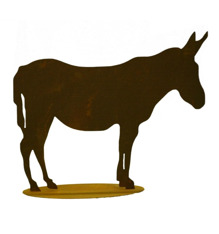 Esel 30 x 37 cmBauernhofTiereMetallmichl aus Edelrost Rostdeko rostig Eisen Metall