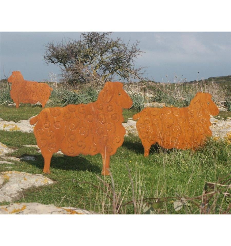 Edelrost Schaf Heidschnucke zum stecken 40 x 50 cm Rostdeko vom Metallmichl