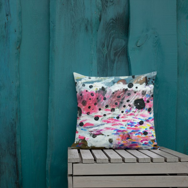 Pillow with art print