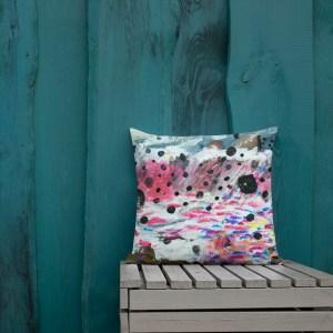 Pillow with art print