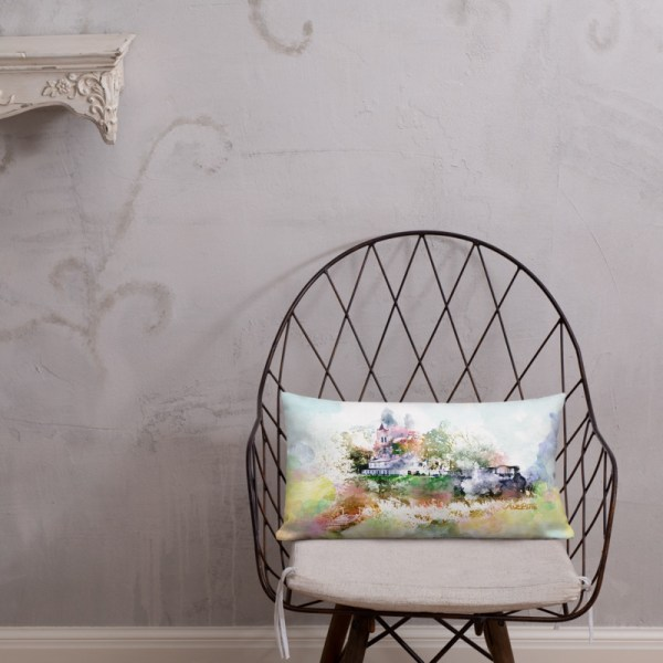 Pillow with painting Aizpute