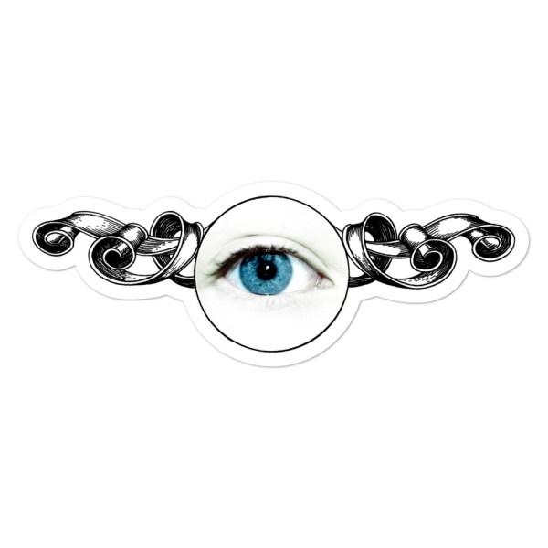 Eye sticker. Vinila uzlīme Acs.