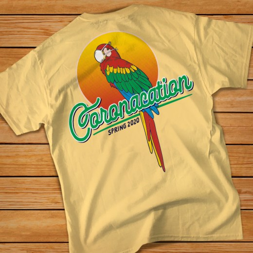 Coronacation Shirt Parrot Back