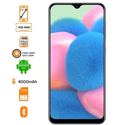 Samsung Galaxy A30s - 64GB HDD - 4GB RAM