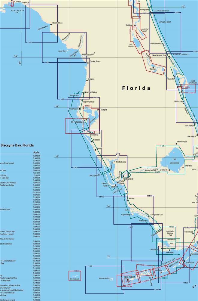 Map Of West Coast Of Florida : coast, florida, TheMapStore, Coast, Florida, Nautical, Charts
